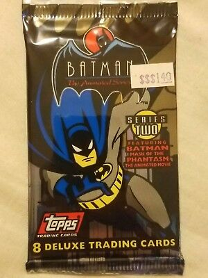 4x BATMAN Animated Series 2 Trading Card Booster Pack TOPPS 1993 Unopened
