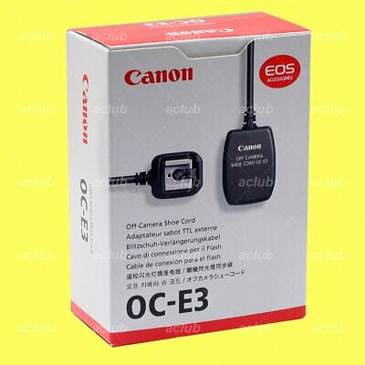 Genuine Canon OC-E3 Off-Camera Flash Shoe Cord for 600EX-RT 430EX 320EX 5D 1Ds