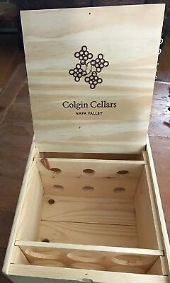 LARGE Wine Box Case Crate Cariad Box 6 750 ml Bottle Napa Colgin Vineyards USA