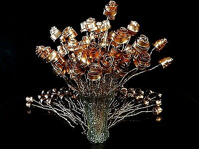Set of 24 Bright Copper Forever Roses #813 Valentine's Mother's Day Anniversary