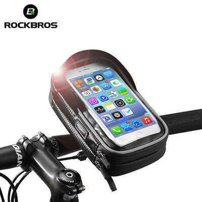 Rockbros Rainproof MTB Road Bike Handlebar Bag 6.0'' Touch Screen Phone Case New