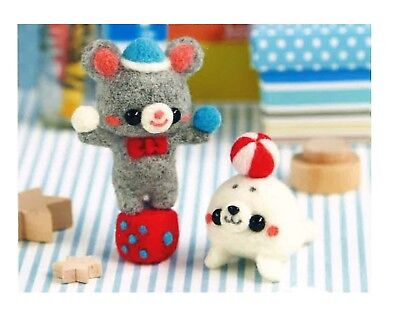 Wool Felting DIY Kit - Mouse and Seal Circus (English and Japanese instructions)