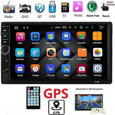 "7"" Double 2 DIN Car MP5 MP3 Player Bluetooth Touch Screen Stereo Radio Camera US"