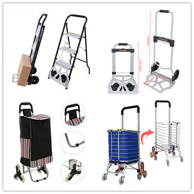 220lbs Aluminium Cart Folding Dolly Push Truck Hand Collapsible Trolley Luggage*