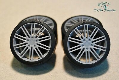 1/24 wheels 21 inch Porsche Panamera 911 Turbo Design with tires for Revell