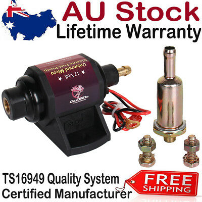 New Electric 12v Fuel Pump 12 volt Solid State 28 GPH 2 to 3.5 PSI Gasoline Only