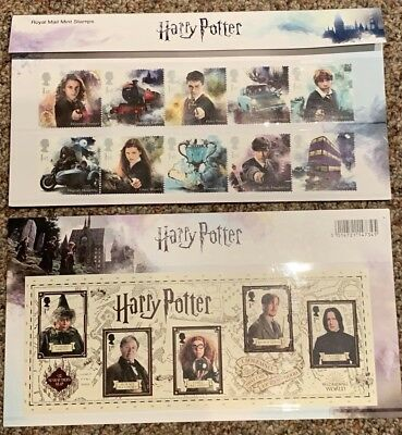 15 Brand New Royal Mail Mint Harry Potter 1st Class Stamp 2018 Presentation Pack