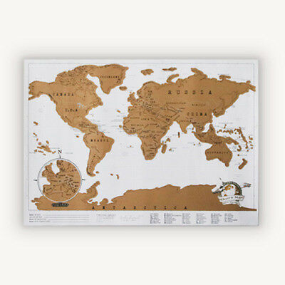 Deluxe Travel Edition Scratch Off World Map Poster Personalized Journal Log Gi