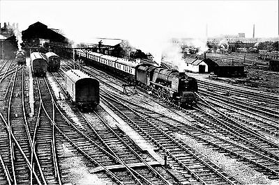 "Rugby Midland Station steam & Trent Valley Line 1930s-70s Sets of 6x4"" BW Photos"
