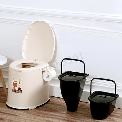 3.2 Gallon 12L Portable Toilet Potty Flush Commode Indoor Camp Travel Emergency