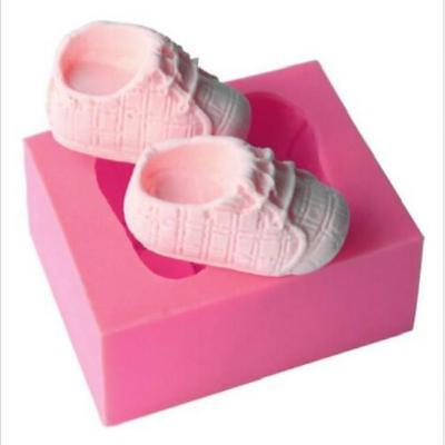 Baby Shoes Shape Fondant Mold Cake Decorating Chocolate Molds for Baby Shower N7