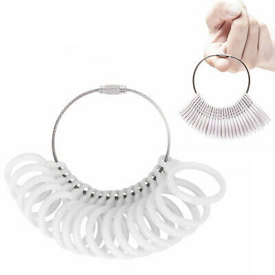 Plastic Ring Sizer Set Finger Gauge Measure Tool Jewelry Sizing Tools Rings Size