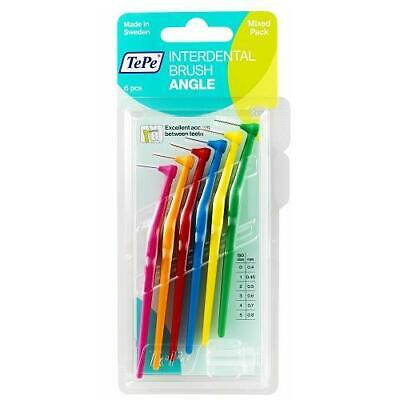 Tepe Angle Interdental Brush - Mixed - 6 Brushes Per Pack
