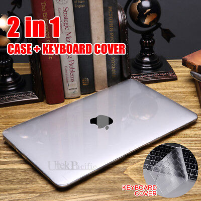 """For 2018 MacBook Air 13"""" A1932 Frosted Clear Hard Case Shell Keyboard Cover OZ"""