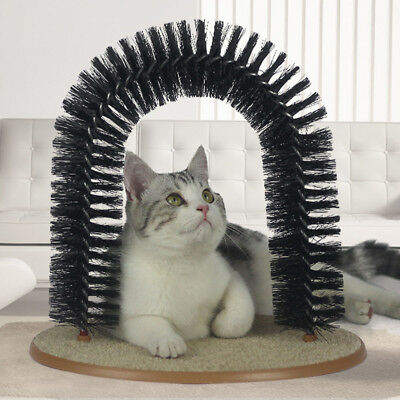 Cat Bristle Arch Cat Scratcher Grooming Arch Self Groomer Massager Durable