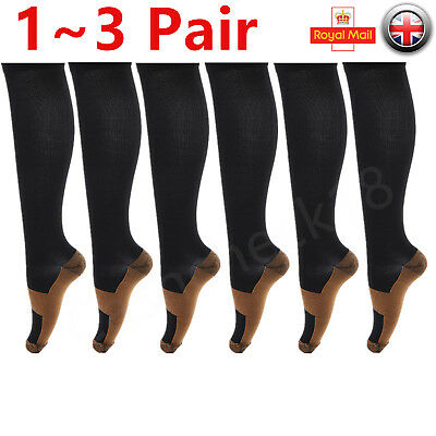 1~3Pair Unisex Infused Anti-Fatigue Compression Socks Running Stocking Men Women