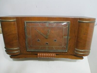 Vedette Westminster Chime Art Deco Mantel Clock Very Good Condition