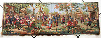 """Home Decor Wall Hanging Tapestry, """"FRENCH COUNTRY SIDE PARTY"""" 20''X57"""""""