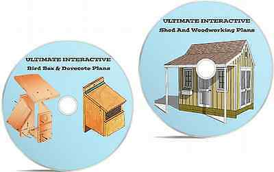 Ultimate Shed & Woodworking Plans+Bird Box & Dovecote Plans On Interactive DVDs