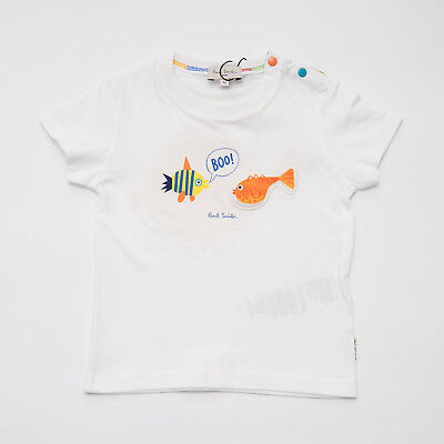 """SIZES 12//18//24M T-SHIRT SEA MULTICOLOR BABY KIDS /""""PAUL SMITH/"""" 5N10501 SS 2019"""