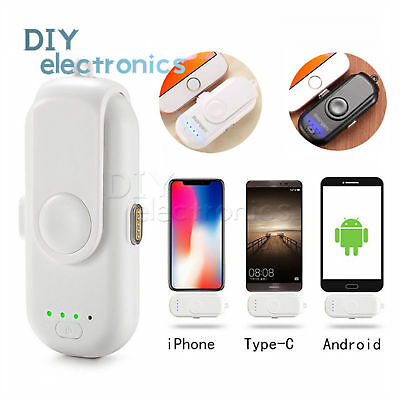 Mini Power Bank Magnetic Interface Charger Back Up iPhone/Android/Type-C US