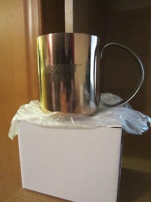 Brand New In Box Absolut Vodka Copper Etched Absolut Mule Cup Mug with Handle