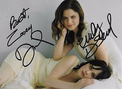 Emily and Zooey Deschanel HAND signed Autographed w/COA RARE HOT SEXY