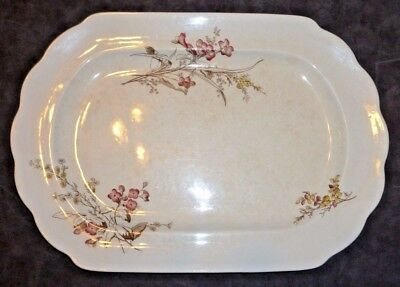 Antique Brownfield & Sons Staffordshire England Aesthetic Movement Platter 1880s