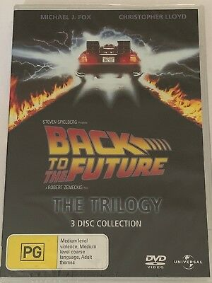 Back To The Future - The Trilogy (DVD, 2008, 3-Disc Set) Brand New