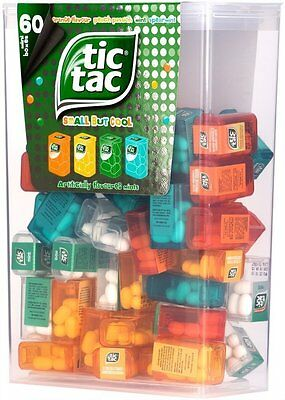 TIC TAC Spender Box with 60 Mini Boxes (Each 3.9 Grams)