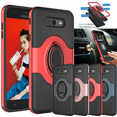 For Samsung Galaxy J7 Sky Pro J7 Perx Halo Magnetic Armor Slim Holder Case Cover
