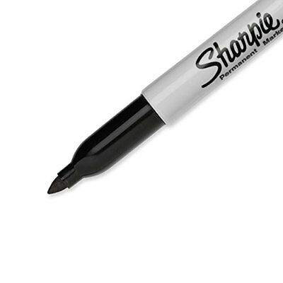 Sharpie Permanent Markers, Fine Point, Black, 12 Count (Model #1812419) NIB