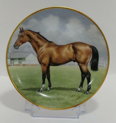 """KAISER Noble Horses PORCELAIN COLLECTOR PLATE """"The Thoroughbred"""" #229 IOB"""