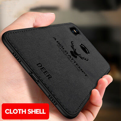 Luxury Shockproof Slim Cloth Fabric Texture Soft TPU Case Cover For Xiaomi 8 SE