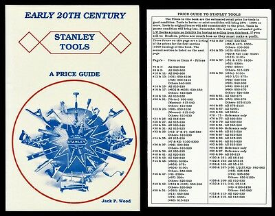 Early 20th Century STANLEY TOOLS PRICE GUIDE Jack Wood w/ Estimate Insert FINE