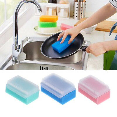 Baby Kids Body Cleaning Sponge Scrub Soft Bath Shower Spa Mesh Shower N7