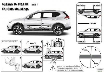 Moldura Borde Puerta Door Molding Protector Trim for Nissan X-Trail T32 2014-