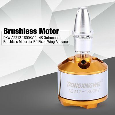 DXW A2212 1800KV 2-4S Outrunner Brushless Motor for RC Fixed Wing Airplane AV