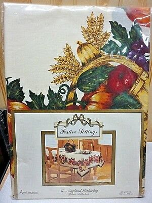 New in Pack Avon Festive Settings New England Tablecloth 52 X 70 - Produce, Fall