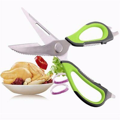 stainless steel kitchen scissors knife for fish chicken with magnetic cover GX