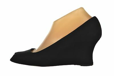 94d9a0d86c8bc PREVATA WOMENS SHOES Size 9 B Black Peep Toe Wedge Leather Heels