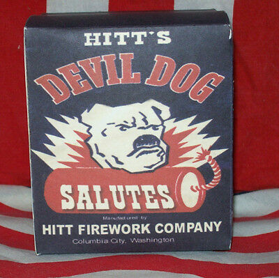 Hitt's Devil Dog Salutes Hitt Firework Co., Historical Firecracker Box Replica