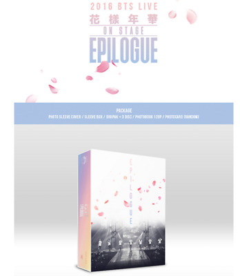 BTS Bangtan Boys 2016 LIVE ON STAGE EPILOGUE DVD album KPOP Korea with Free Gift