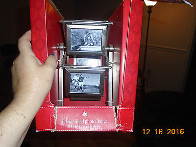 NIB Rotating Revolving Ferris Wheel Picture Frame Spinning 10 2 x 3 inches Photo