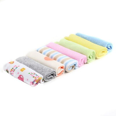 8Pcs Baby Infant Newborn Bath Towel Washcloth Bathing Feeding Wipe Cloth Soft CA