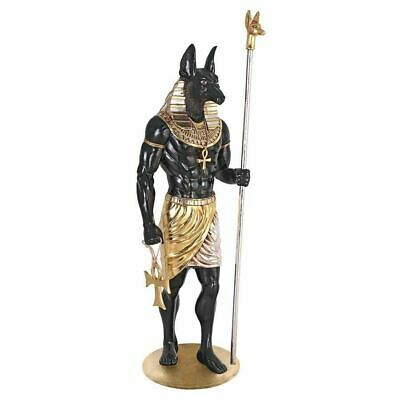 "Egyptian God Anubis Grand Ruler Collection Life-Size 97.5"" Tall Statue"
