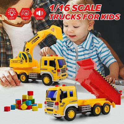 2PCS 1/16 Fire Truck 3+ Year Old  Extensible Ladder Sound Light Hobby Toys Gift
