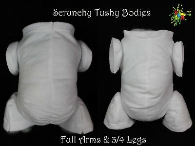 Non - Fray Doe Suede Scrunchy Tushy Bodies Various Colours  *full Arms 3/4 Legs*