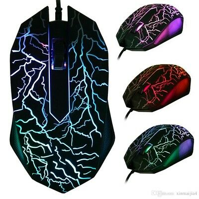 Mouse Gaming 3 Bottoni USB Cablato Luminoso LED 3D Special Gamer Computer 3200
