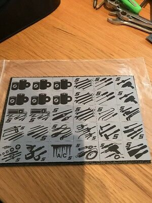 Snap On Tool Box Organiser Magnetic Decals/ Images